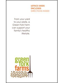 Green Form Farms seed packet sticker
