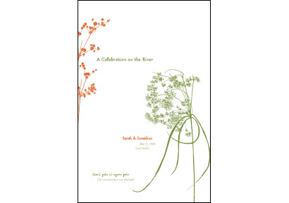 wedding program cover