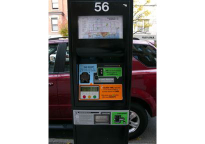 parking meter interface design for Hoboken, NJ