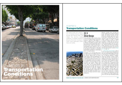 sample spread from report on Columbus Ave for SFCTA