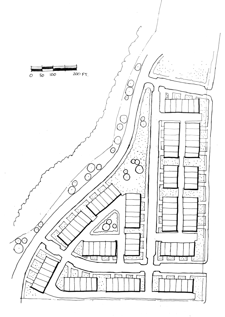 townhouse site plan drawing